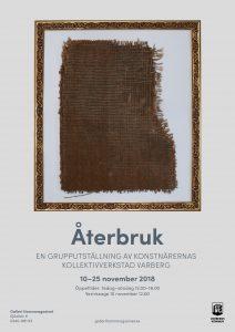 Affisch för utställningen Återbruk